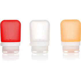 humangear GoToob+ 3-Pack Small 53ml Clear/Orange/Red